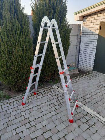 Лестница  4*4 ступ, алюминиевая, телескопическая INTERTOOL LT-2044