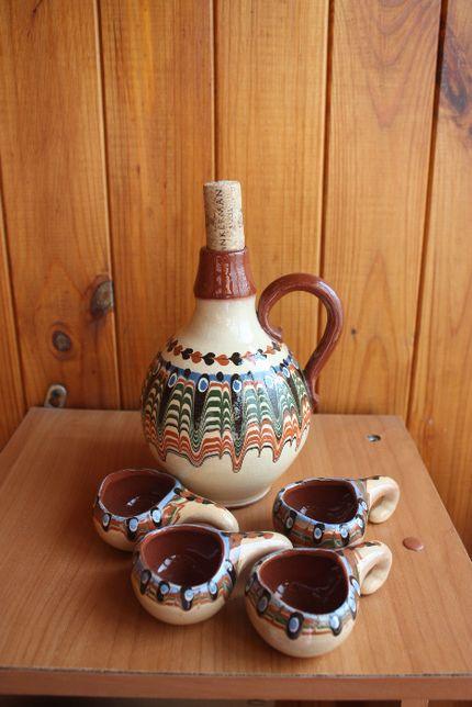Набір для алкогольного напою (Васильківська майоліка)