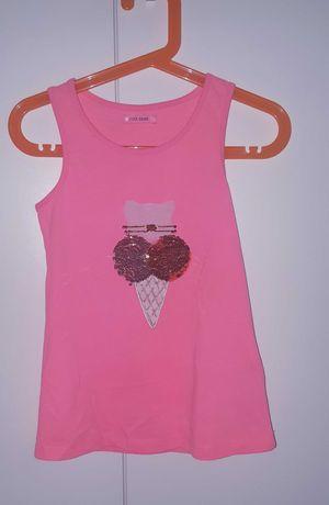 Śliczna różowa bluzeczka odwracane cekiny Cool Club