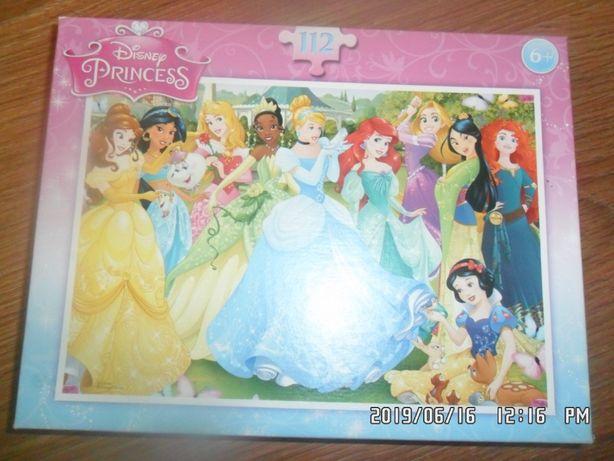 Puzzle disney princess 112szt +6L 44X30SZT