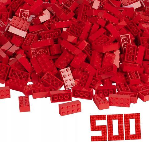 Simba Klocki Blox 500 Sztuk - Czerwone 4X2 pasują do LEGO NOWY