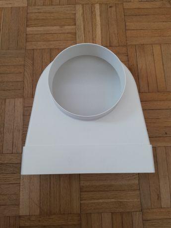 Kolano wentylacyjne płaskie, kształtka 204x60 fi 125 Vents