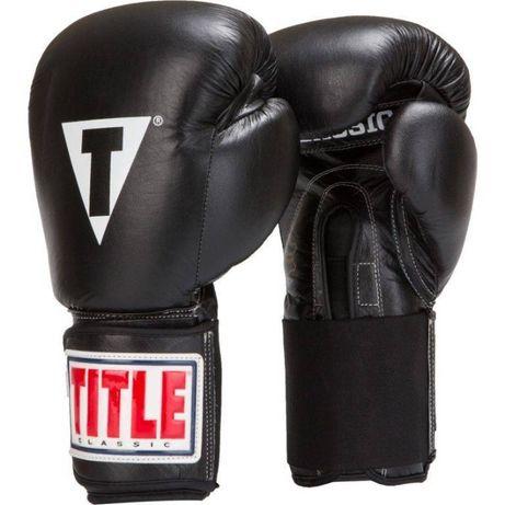 Боксерские перчатки для бокса TITLE Classic Leather Elastic