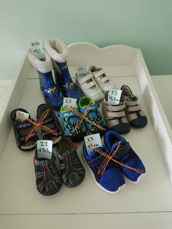 Buty,Sandały,kapcie oraz kalosze dziecięce dla chłop rozm. 22,23,24,25