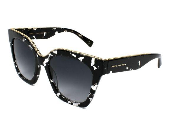 Marc jacobs okulary162-s nowe sklep czarno złote