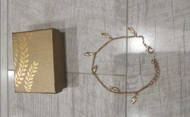 Nowa bransoletka na rękę Avon Maxima kolor złoty