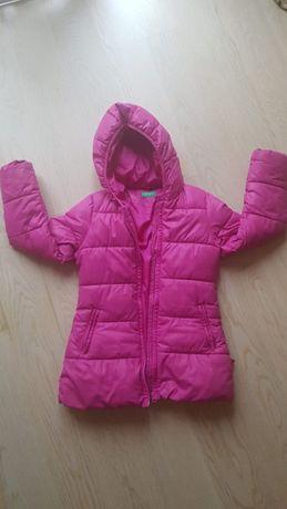 kurtka dziewczęca różowa United Color of of Benetton