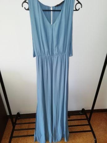 Vestido comprido azul Zara - Tam. M