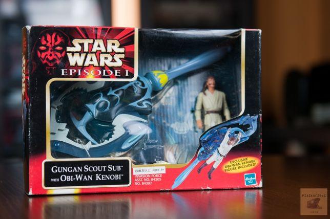 Star Wars Gungan Scout Sub & Obi-Wan 1999 (figurka, Hasbro)