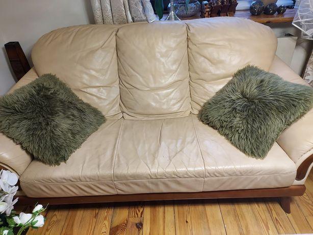 Meble sofa fotele kler komplet skóra