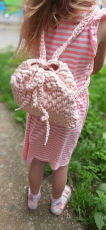 Рюкзак трикотажний персикового кольору