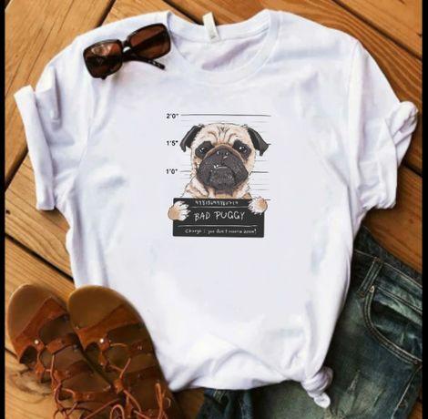 Koszulka bluzka t-shirt pies mops pug guilty S M L XL XXL