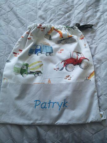 Worek plecak do przedszkola z haftem imię Patryk