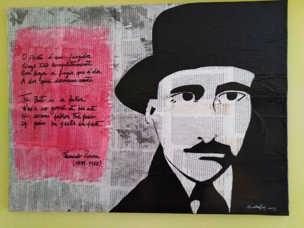 Pintura original Fernando Pessoa