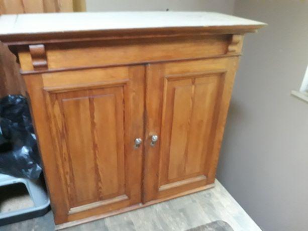 drewniana szafka komoda rustykalna vintage loft