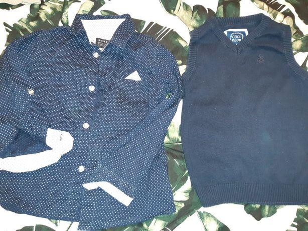 Koszula sweter bezrękawnik H&M Reserved Cool Club