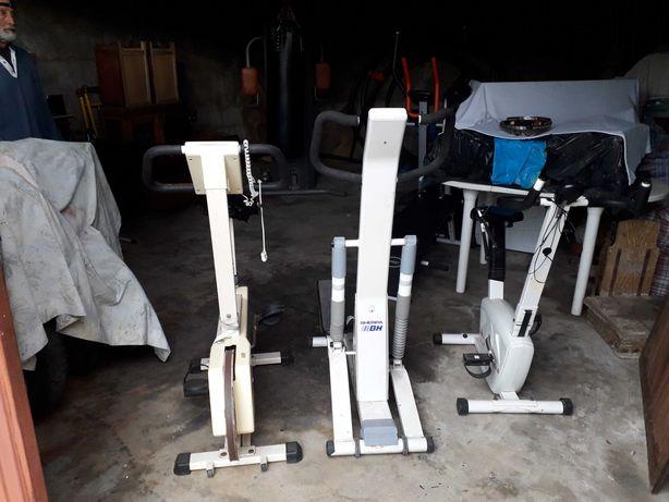 Material de ginásio (Bicicletas e máquina de step)