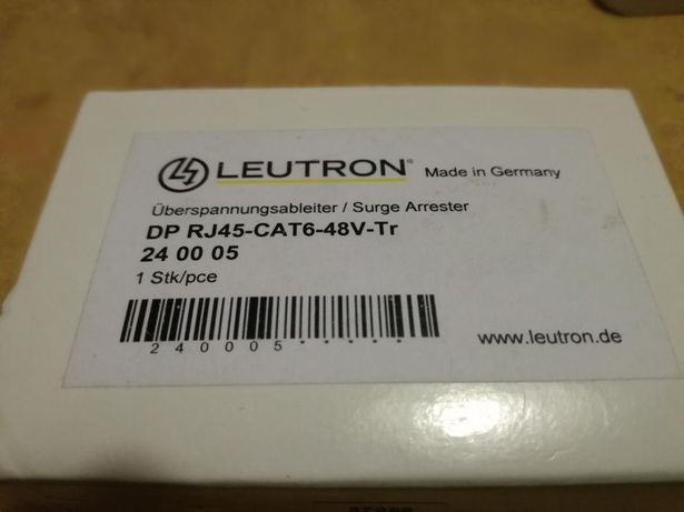 Ochronnik zabezpieczenie LAN Leutron DP RJ45-Cat6-48v-Tr.