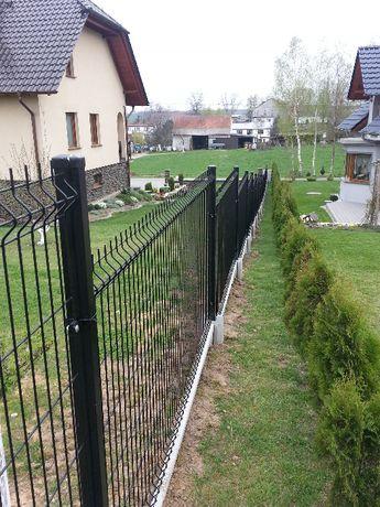 Ogrodzenie panelowe 1450mm 5mm grafit z podmurówką SAPES PRODUCENT