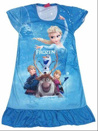 Vestido azul, rosa ou lilás Frozen 3-4A - NOVO