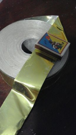 Золотая плотная фольга