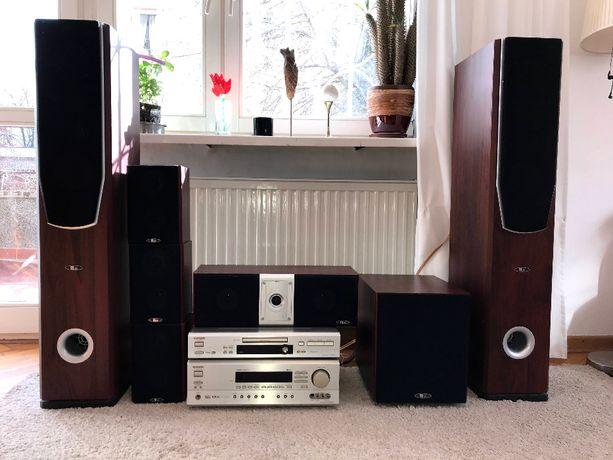 Zestaw HiFi Onkyo TX-SR501E, DVD, kino domowe + chromecast audio