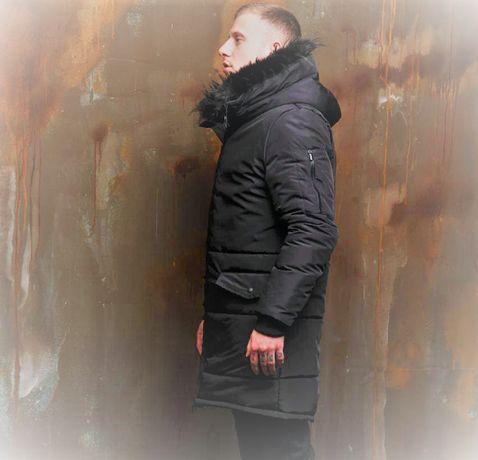 Спортивная куртка парка мужская зимняя до -25 С пальто класика теплая