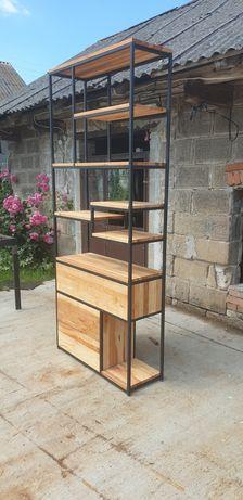 Regał industrialny/loft.Trzy pojemne szuflady z cichym domykiem.