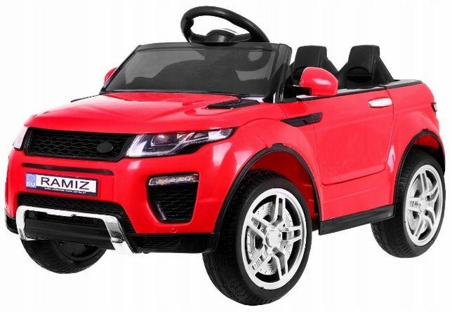 RAPIDRACER auto na akumulator - otwierane drzwi - koła EVA - Czerwony
