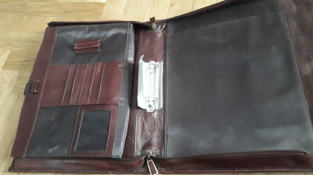 torba skórzana Ochnik, skórzana teczka Ochnik 30x37 cm