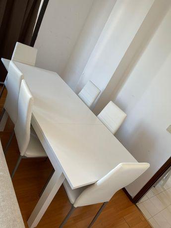Mesa e cadeiras conforama