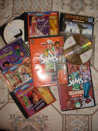 Диски с играми, музыкой и программами