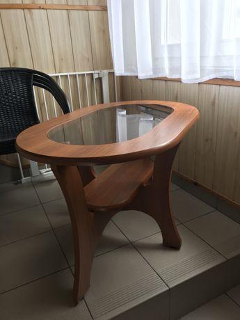 Mały stolik kawowy, ława ze szkłem, podwójny