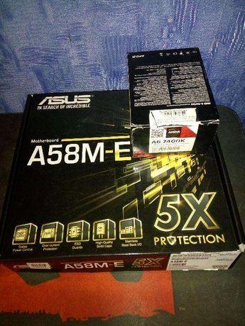 Комплект FM2+ A4 5300, ASUS A55BM-K; A6 7400K, Asus A58M-E