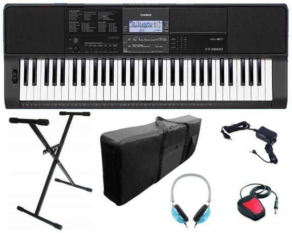 Keyboard Casio CT X800 Statyw Pokrowiec Słuchawki Pedał NOWY