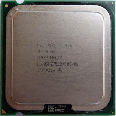 Процессор Intel Celeron 420 1.60GHz/512/800 (SL9XP) s775