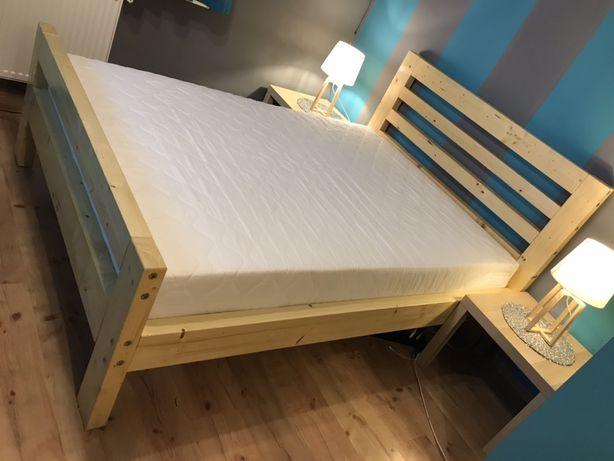 Łóżko drewniane z drewna litego, ŁOŻE 120x200 140x200 180x200 200x200