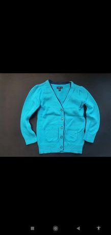 Gap elegancki turkusowy kardigan sweter sweterek 104cm vint
