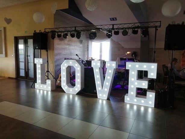 Napis LOVE LED 120cm wysokości