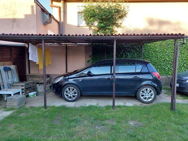 Garaż, zadaszenie, wiata metalowa z dachem