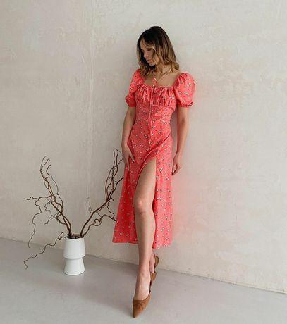 Платье корал розмір S