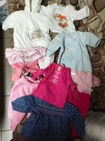 Ubranka niemowlęce dziewczynka  rozmiar 56 0-3 miesiące 9szt