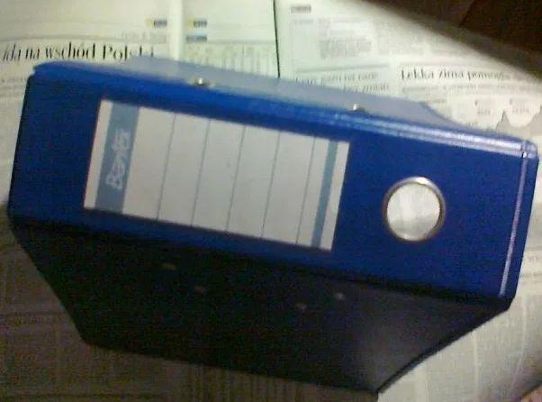 Bantex solidny segregator biurowy granatowy granat niebieski