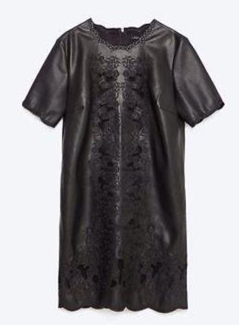 Zara sukienka skora haft S nowa