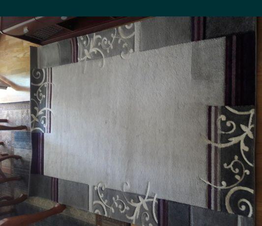 Dywan szary fiolet rozmiar 160x230 cm