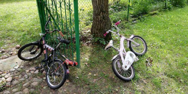 """Zamienię 2 rowerki 16"""" na większy"""