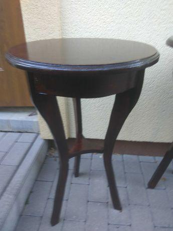 stolik pod kwiatek i lampkę