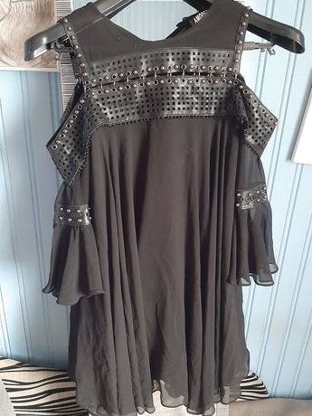Piekna czarna sukienka jak nowa. Rozmiar: S/M