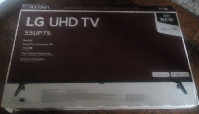 LCD TV Samrt TV 4K de 55 polegadas nova por estrear