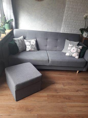 Sofa wersalka z funkcją spania + pufa Agata meble brw